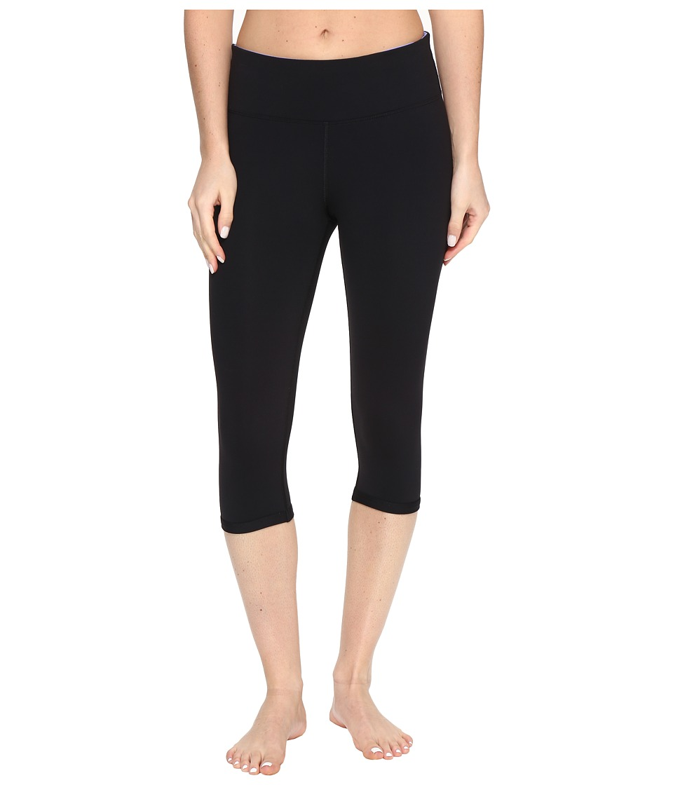 Lorna Jane - Vivacious Core 3/4 Tights (Black) Women's Casual Pants