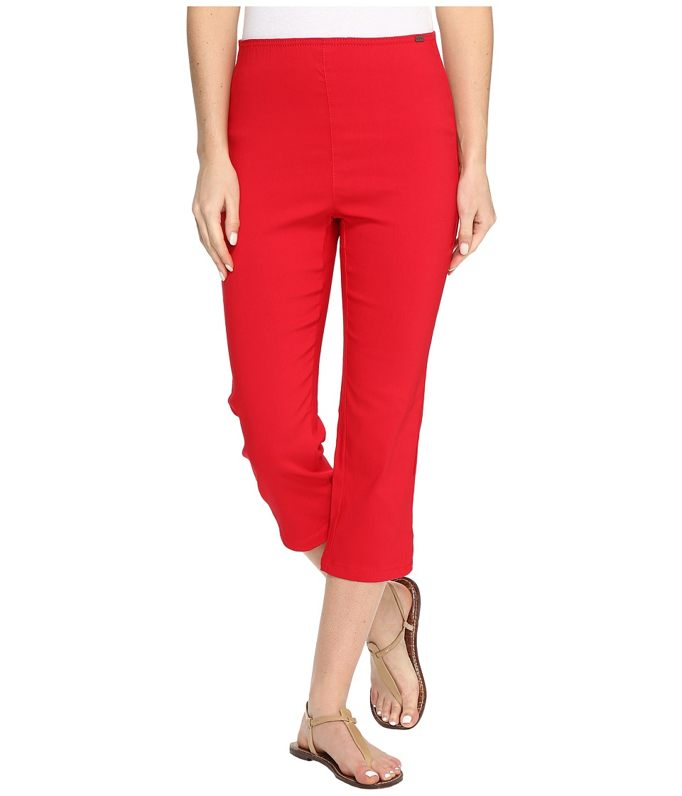 FDJ French Dressing Jeans Techno Slim Pull-On Capris in Red (Red) Women