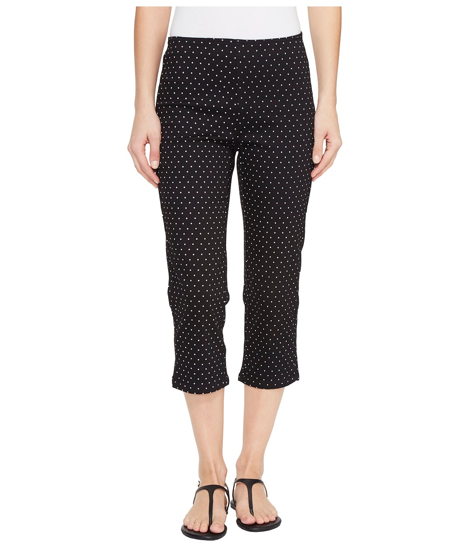 FDJ French Dressing Jeans - Dot Print Pull-On Capris in Black/White (Black/White) Women's Jeans