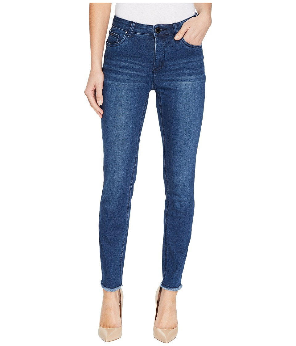 FDJ French Dressing Jeans - Olivia Fashion Slim Ankle Frayed Hem in Medium Indigo (Medium Indigo) Women's Jeans