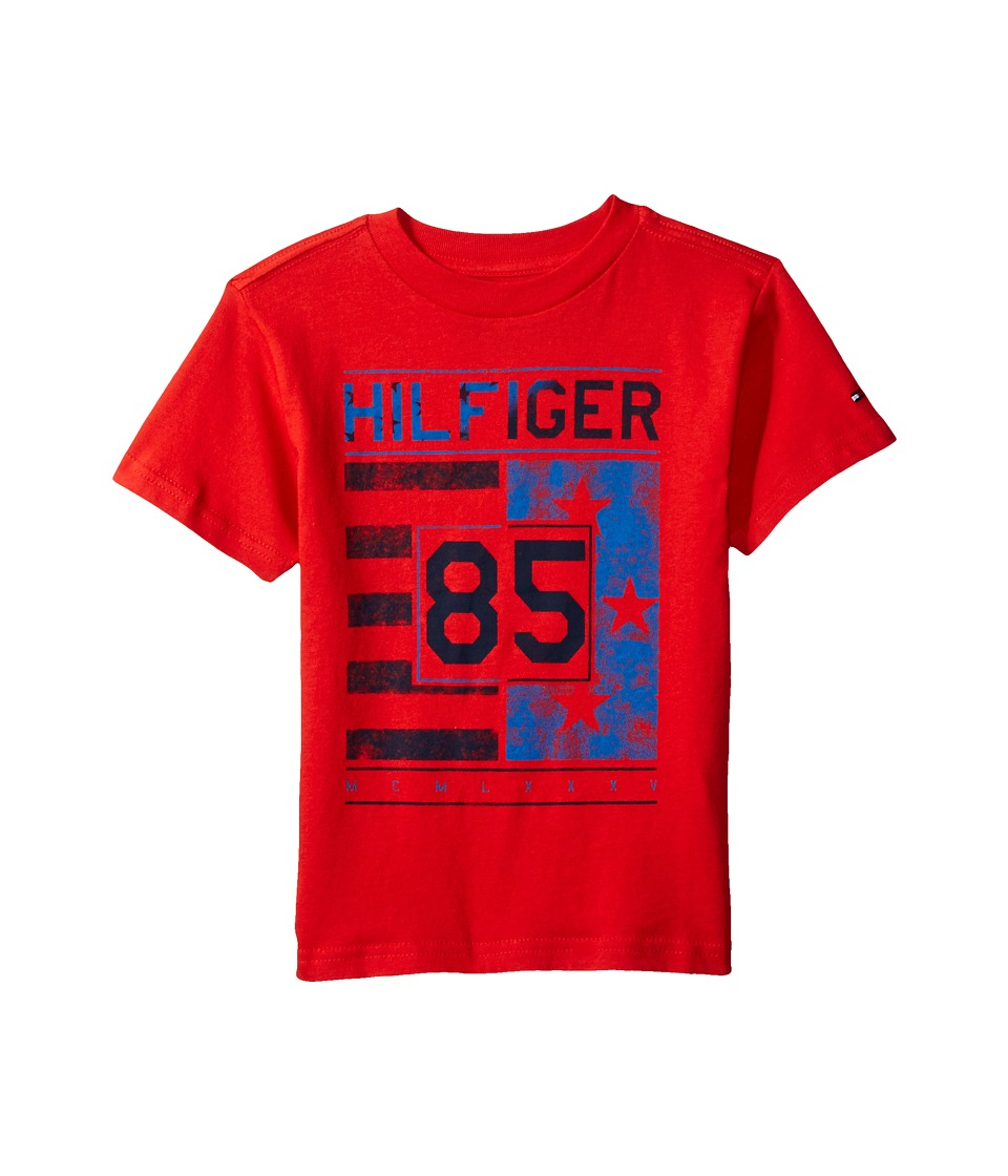 Tommy Hilfiger Kids - All-American Graphic Tee (Toddler/Little Kids) (Ripe Tomato) Boy's T Shirt