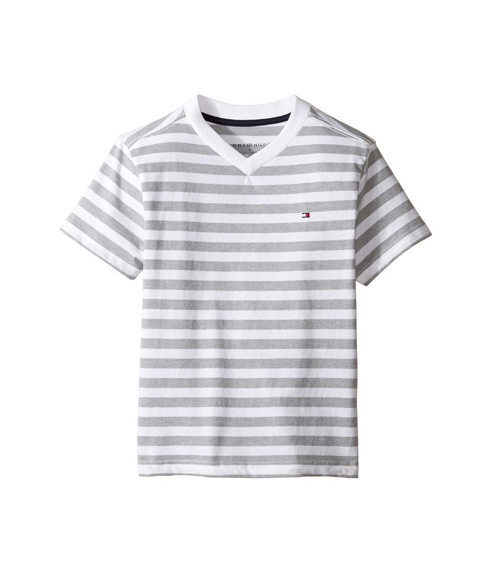 Tommy Hilfiger Kids - Felix V-Neck Tee (Toddler/Little Kids) (White) Boy's T Shirt