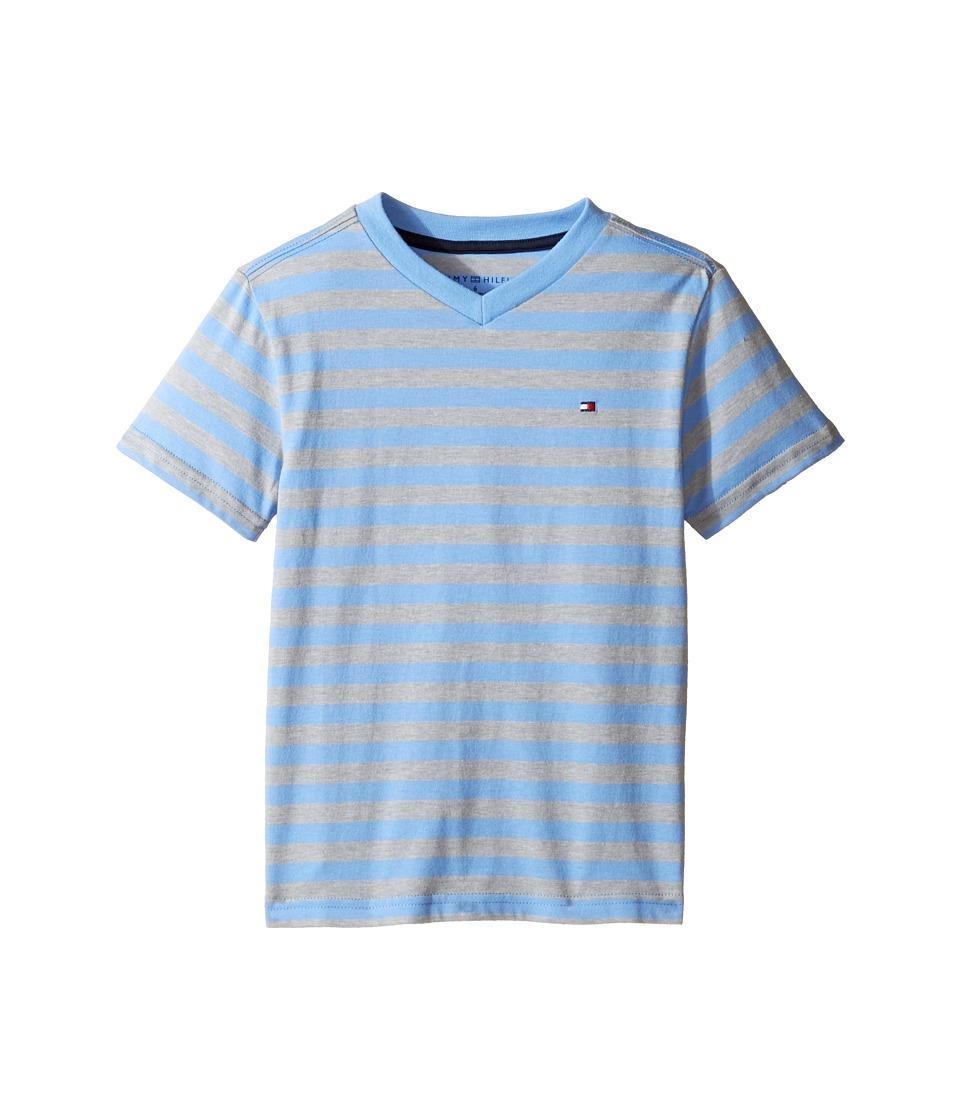 Tommy Hilfiger Kids - Felix V-Neck Tee (Toddler/Little Kids) (Summer Blue) Boy's T Shirt