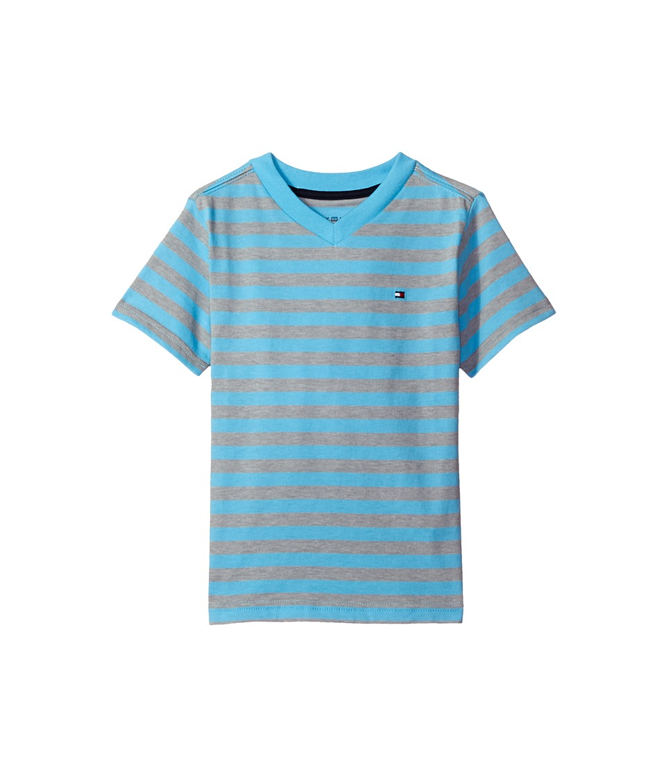 Tommy Hilfiger Kids - Felix V-Neck Tee (Toddler/Little Kids) (Zen Blue) Boy's T Shirt