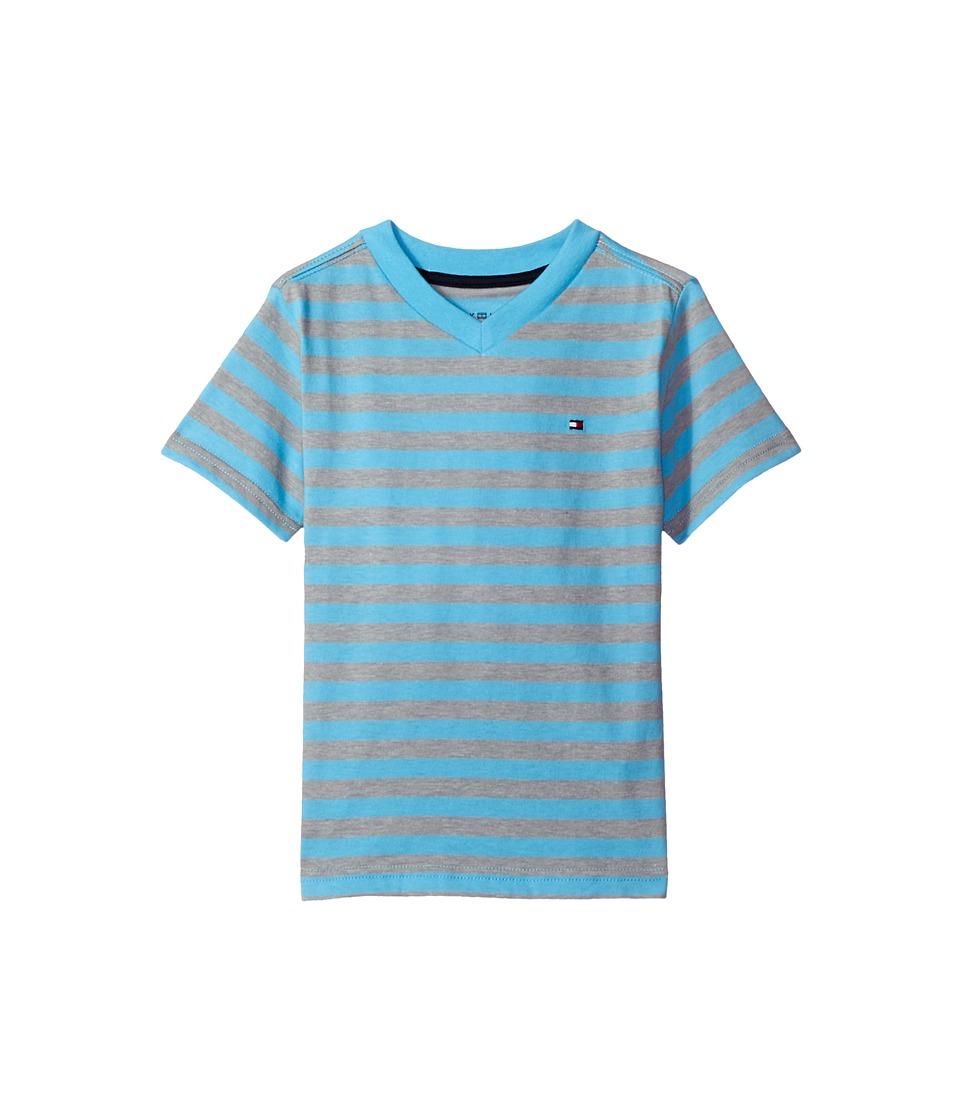 Tommy Hilfiger Kids - Felix V-Neck Tee (Toddler/Little Kids) (Zen Blue) Boy's T Shirt
