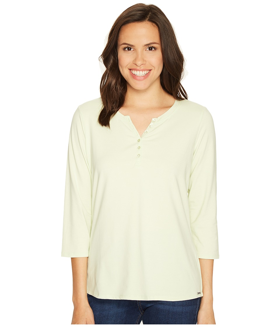 FDJ French Dressing Jeans - Solid Jersey Top (Pistachio) Women's Long Sleeve Pullover
