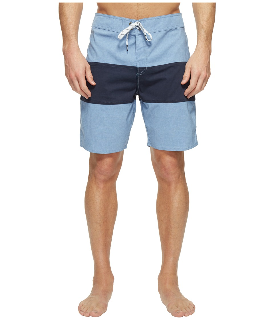 Brixton - Barge Trunks (Light Blue/Dark Navy) Men's Swimwear