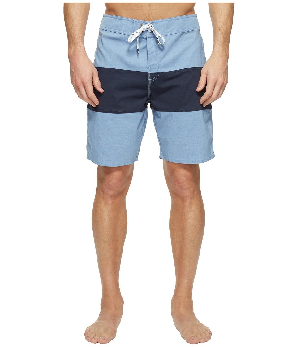 Brixton - Barge Trunks (Light Blue/Dark Navy) Men's Swimwear