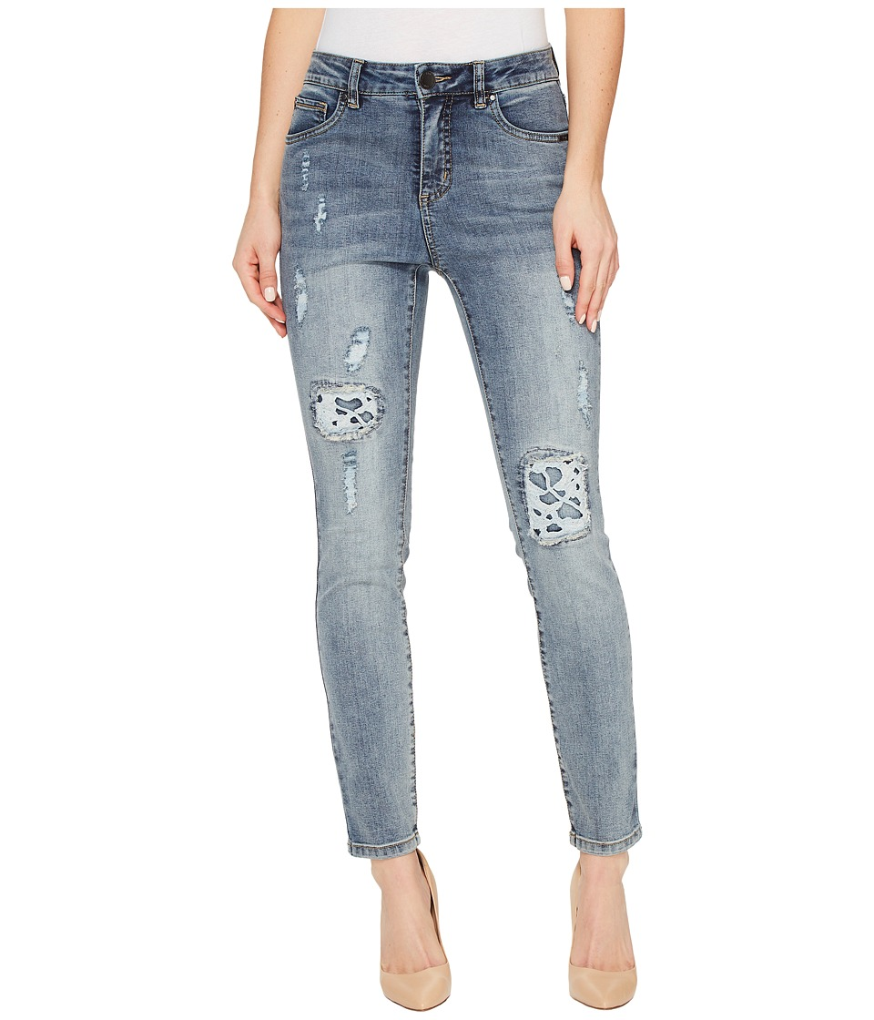 FDJ French Dressing Jeans - Olivia Fashion Slim Ankle Rip Repair with Lace in Light Indigo (Light Indigo) Women's Jeans