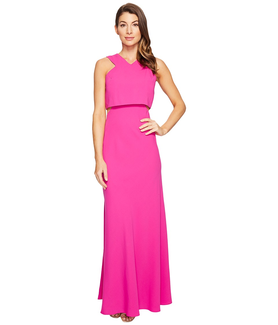 JILL JILL STUART - 2-Ply Crepe Popover Dress (Fuchsia Rose) Women's Clothing
