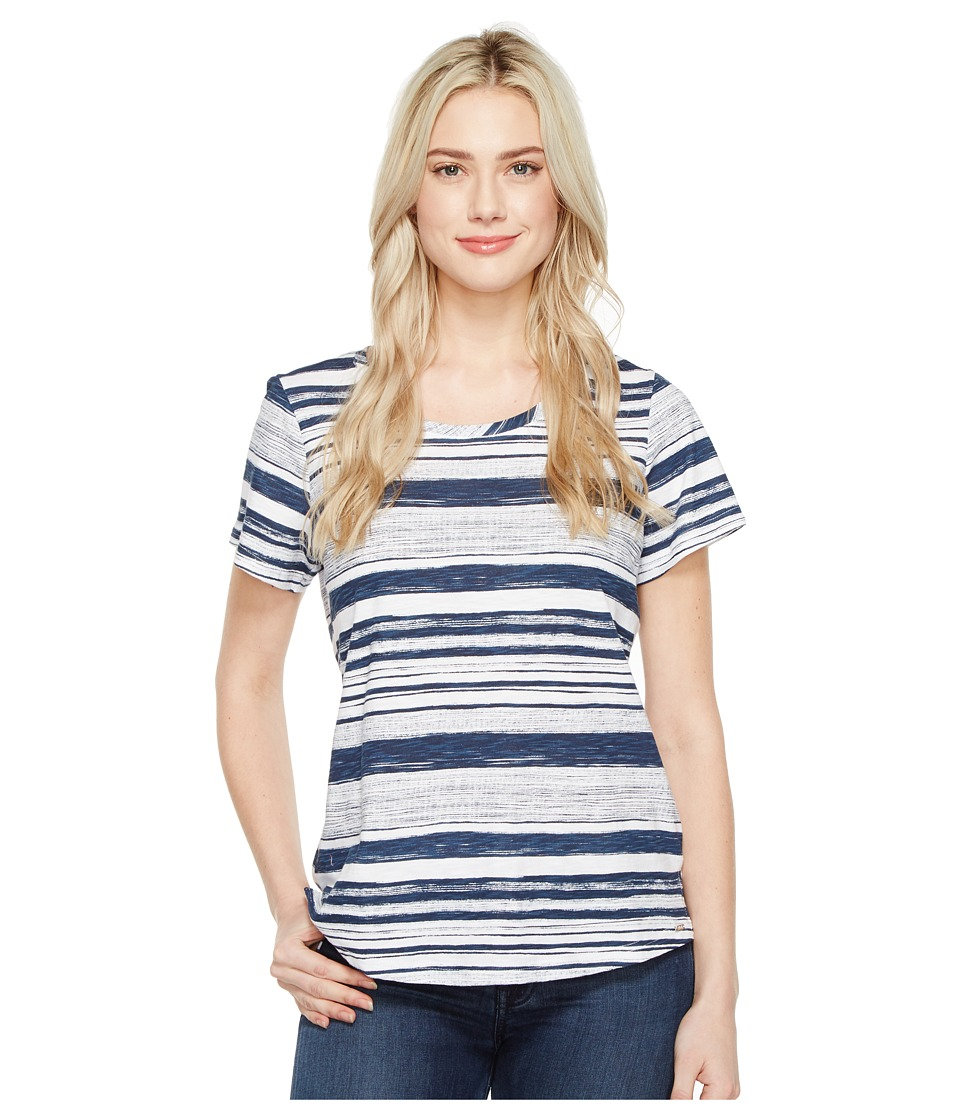 FDJ French Dressing Jeans - Pencil Stripe Top (Indigo) Women's T Shirt