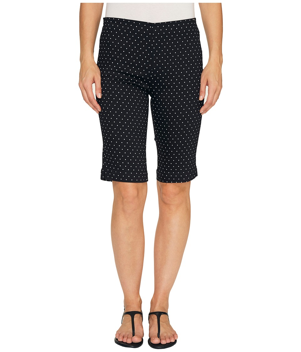 FDJ French Dressing Jeans - Dot Print Pull-On Bermuda in Black/White (Black/White) Women's Shorts