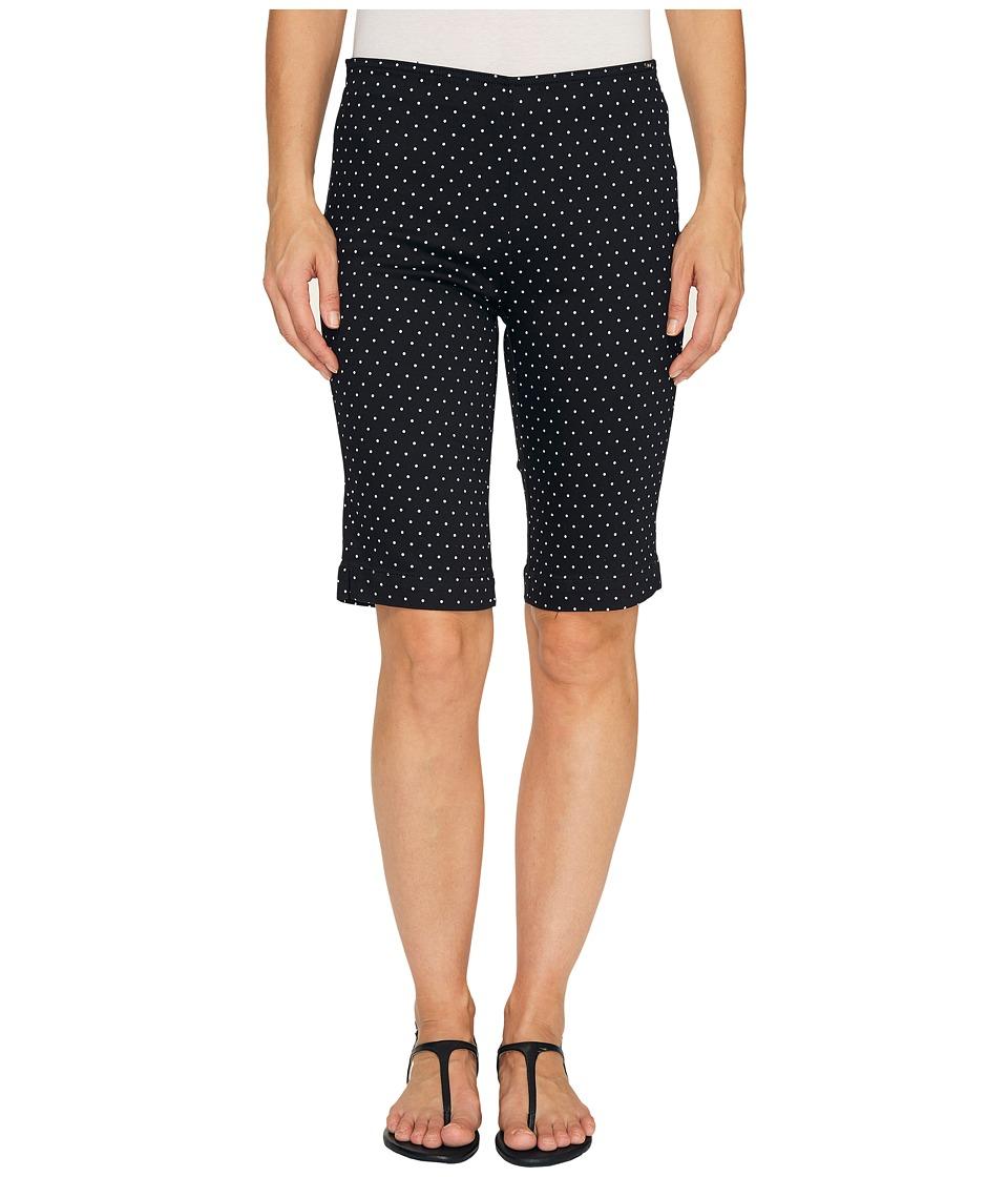 FDJ French Dressing Jeans - Dot Print Pull-On Bermuda in Black/White (Black/White) Women's Shorts