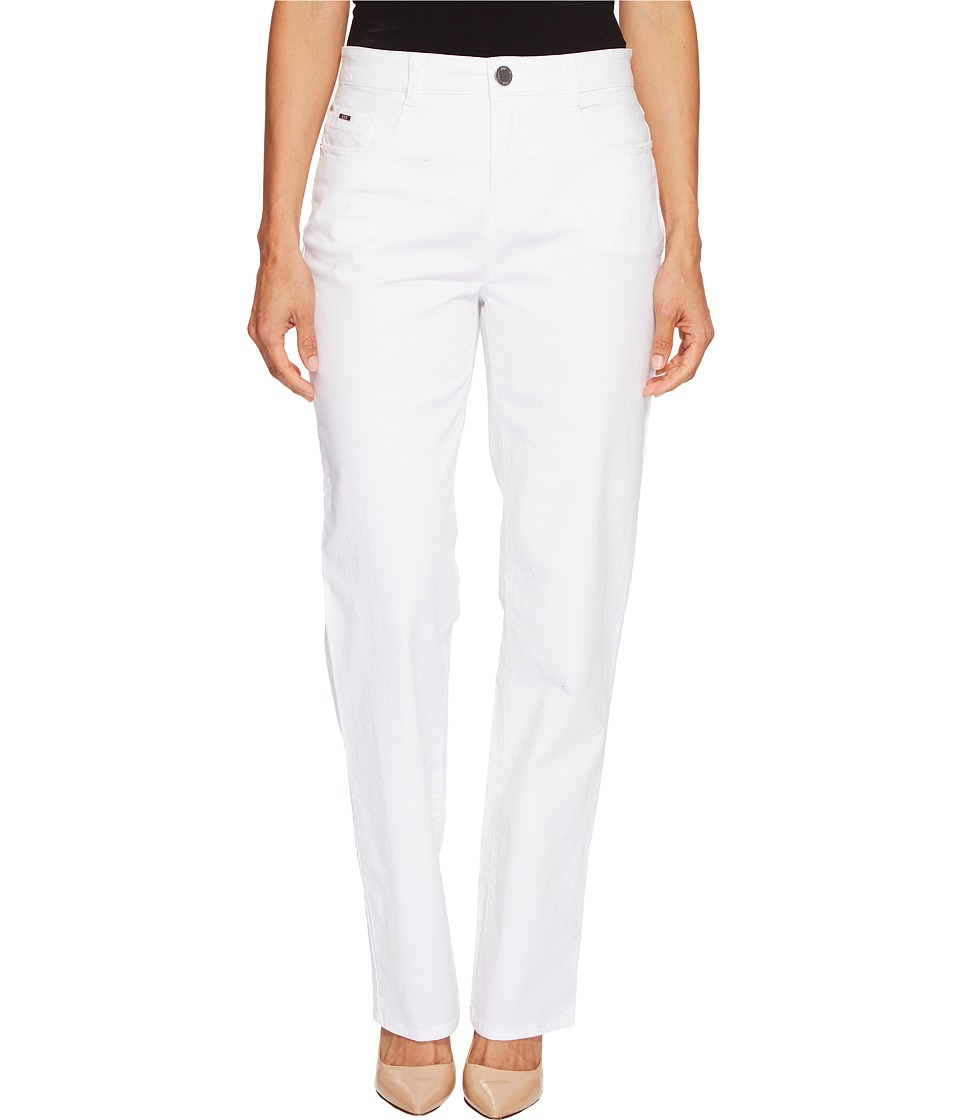 FDJ French Dressing Jeans - Petite Sedona Suzanne Straight Leg in White (White) Women's Jeans