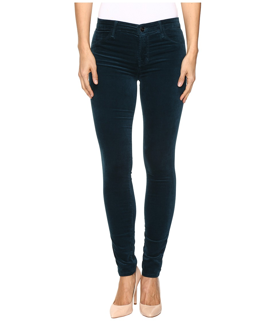 J Brand - 815 Mid-Rise Supper Skinny in Emerald (Emerald) Women's Jeans