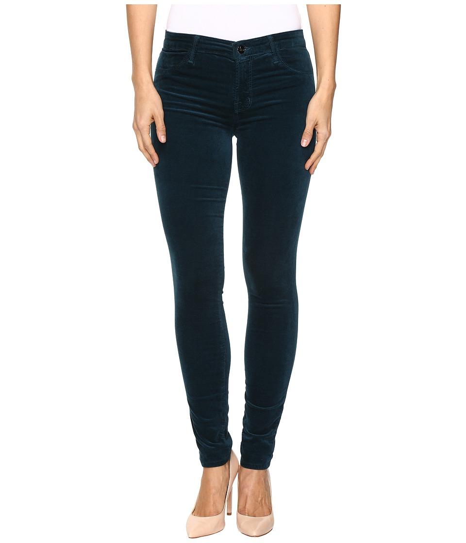 J Brand - 815 Mid-Rise Supper Skinny in Emerald (Emerald) Women's Jeans