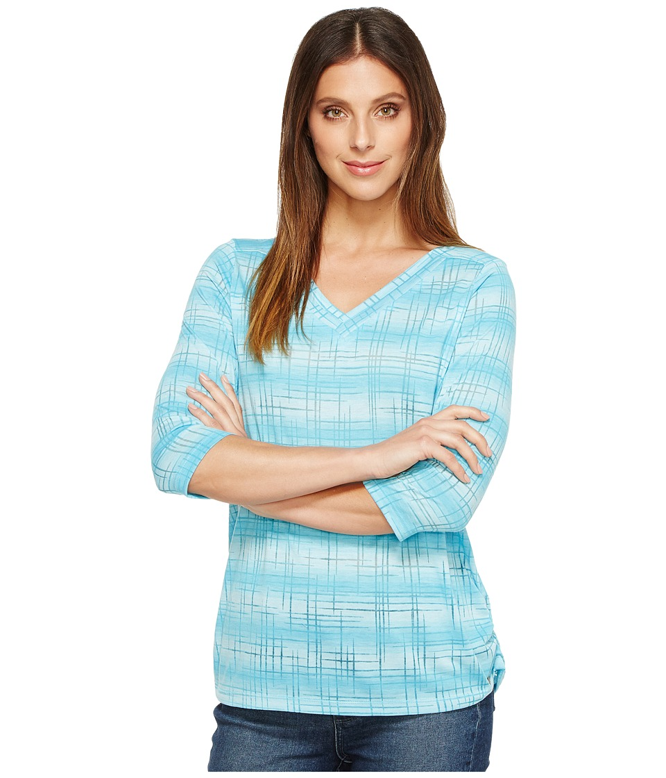 FDJ French Dressing Jeans - Soft Dye Tee (Turquoise) Women's Clothing