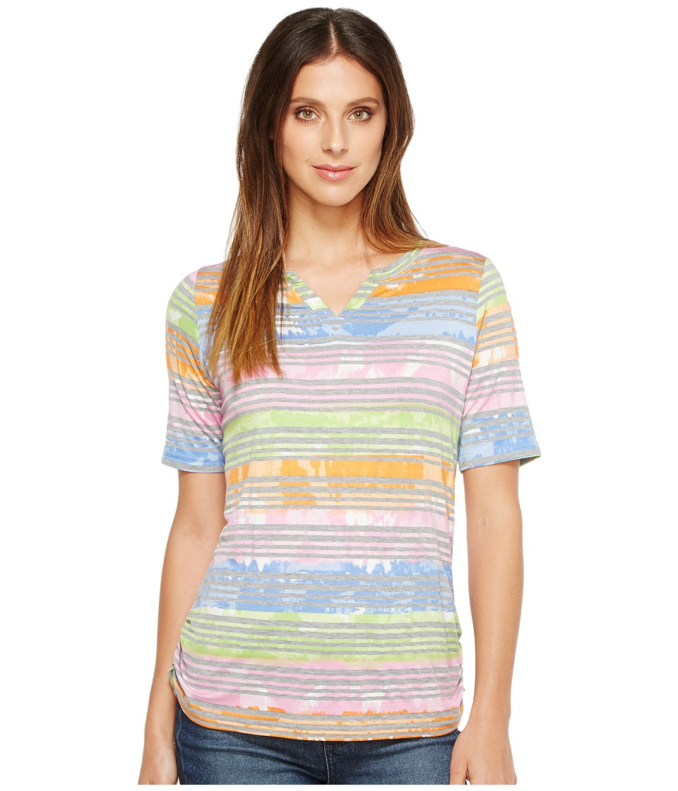 FDJ French Dressing Jeans - Tie-Dye Stripe (Multi) Women's T Shirt