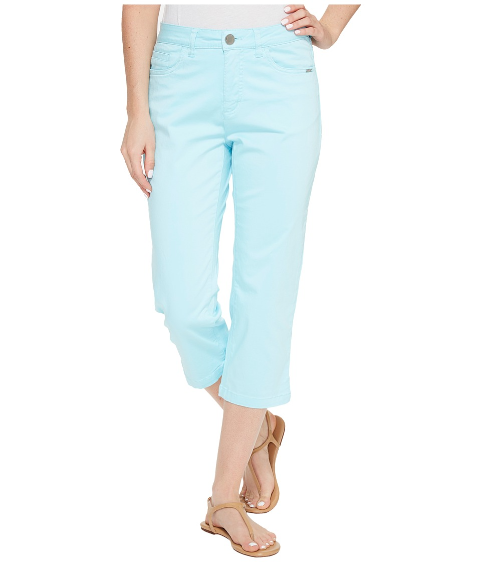 FDJ French Dressing Jeans - Olivia Sateen Capris in Aqua (Aqua) Women's Jeans