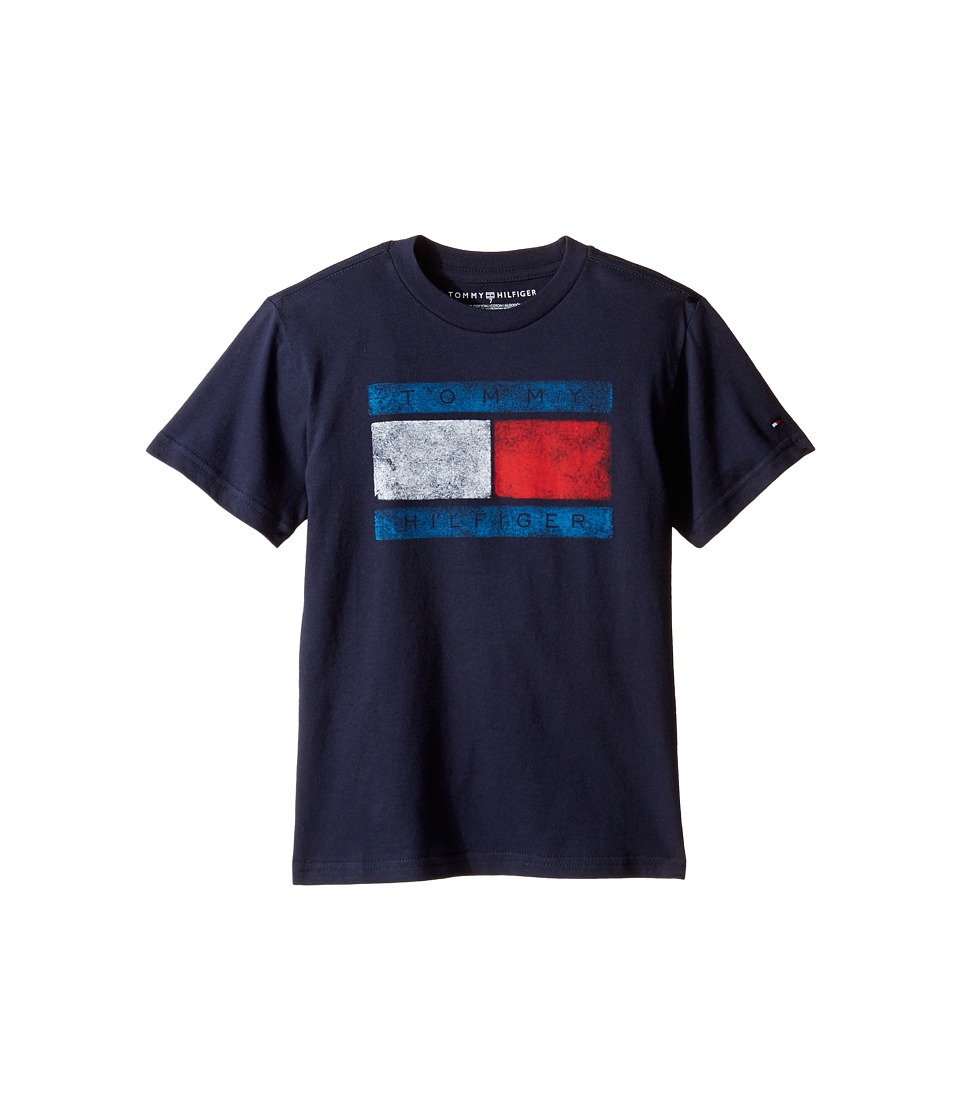 Tommy Hilfiger Kids - Tommy Flag Tee (Toddler/Little Kids) (Swim Navy) Boy's T Shirt