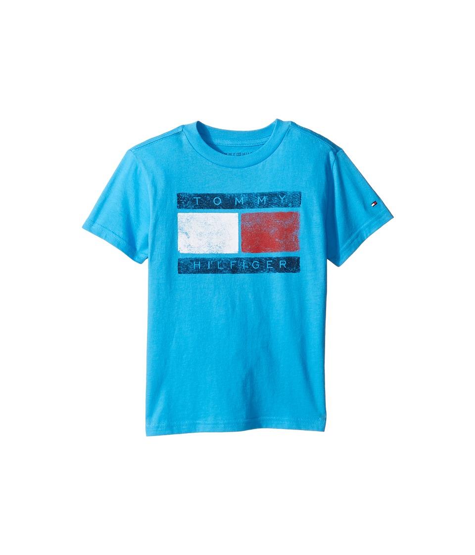Tommy Hilfiger Kids - Tommy Flag Tee (Toddler/Little Kids) (Atlantis Sea) Boy's T Shirt