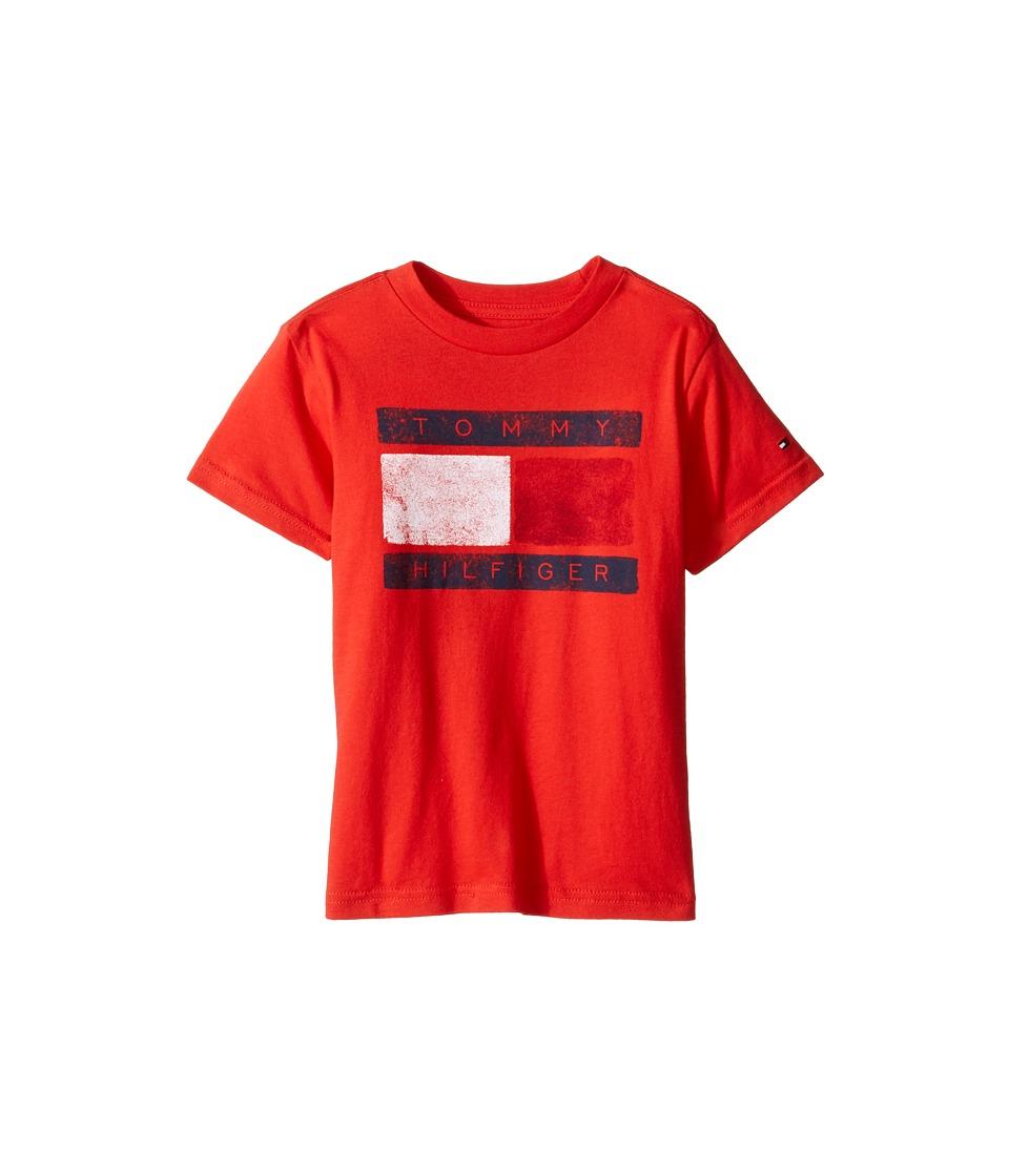Tommy Hilfiger Kids - Tommy Flag Tee (Toddler/Little Kids) (Ripe Tomato) Boy's T Shirt