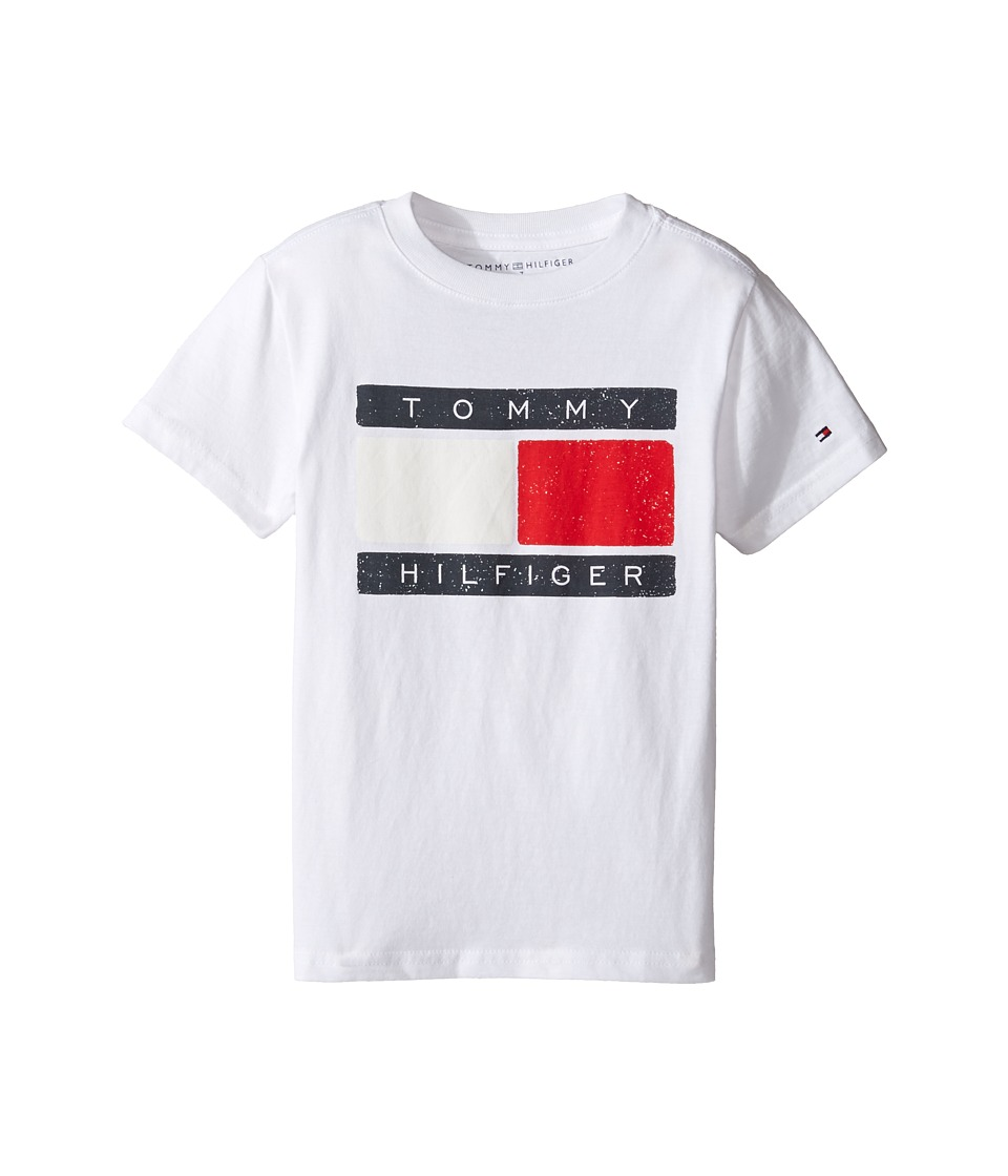 Tommy Hilfiger Kids - Liberty Tee (Toddler/Little Kids) (White) Boy's T Shirt
