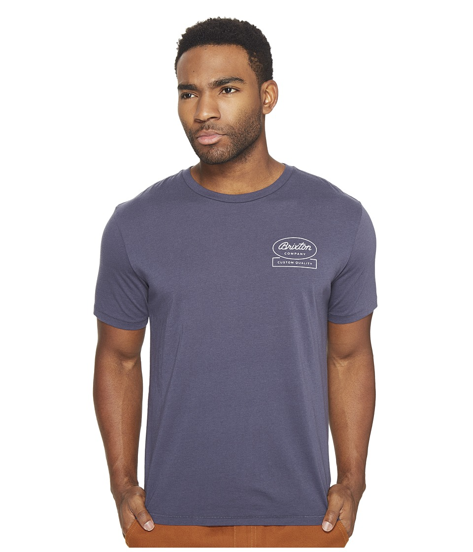 Brixton - Dale Short Sleeve Premium Tee (Steel Blue) Men's T Shirt