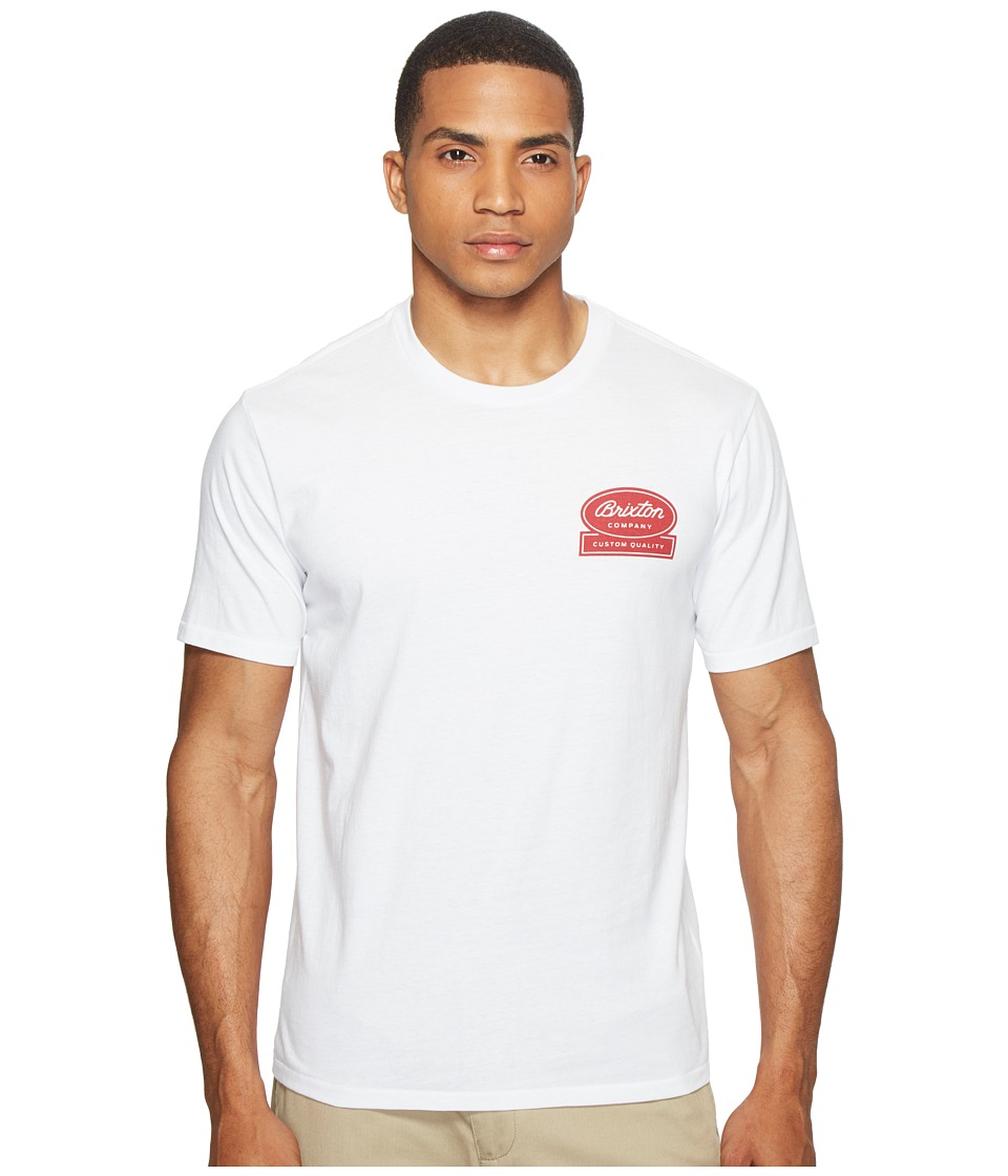 Brixton - Dale Short Sleeve Premium Tee (White) Men's T Shirt