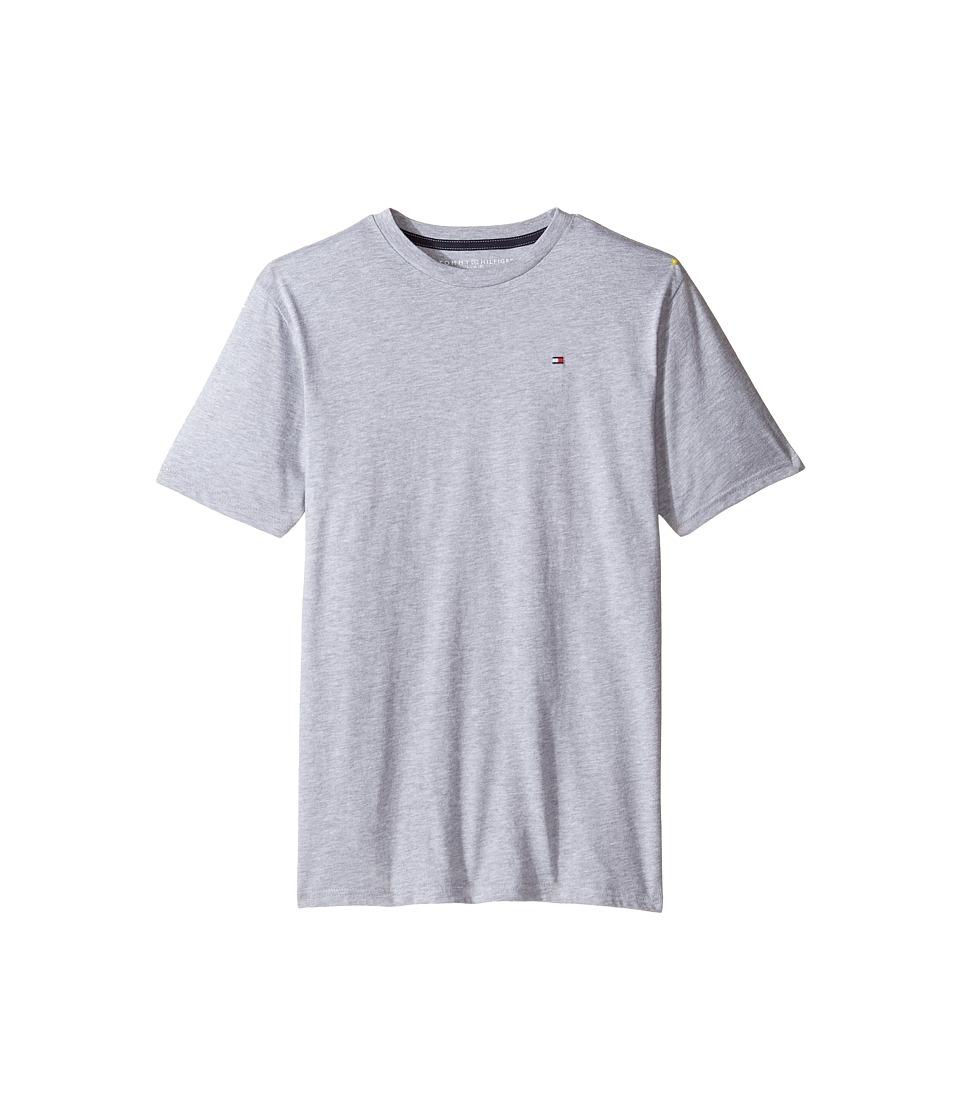Tommy Hilfiger Kids - Tony Tee (Big Kids) (Grey Heather) Boy's T Shirt