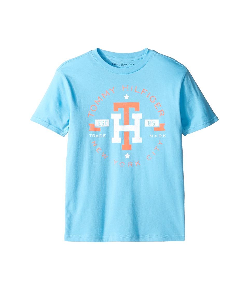 Tommy Hilfiger Kids - Circa Mark Tee (Big Kids) (Zen Blue) Boy's T Shirt