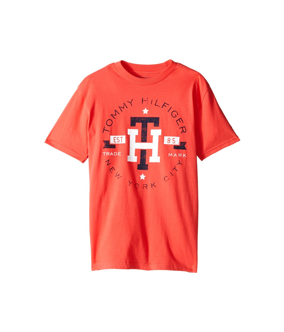 Tommy Hilfiger Kids - Circa Mark Tee (Big Kids) (Hibiscus Tea) Boy's T Shirt