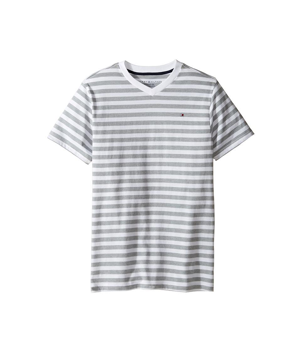 Tommy Hilfiger Kids - Felix V-Neck Tee (Big Kids) (White) Boy's T Shirt