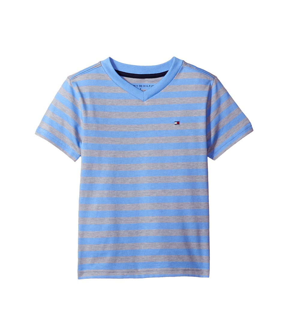 Tommy Hilfiger Kids - Felix V-Neck Tee (Big Kids) (Summer Blue) Boy's T Shirt