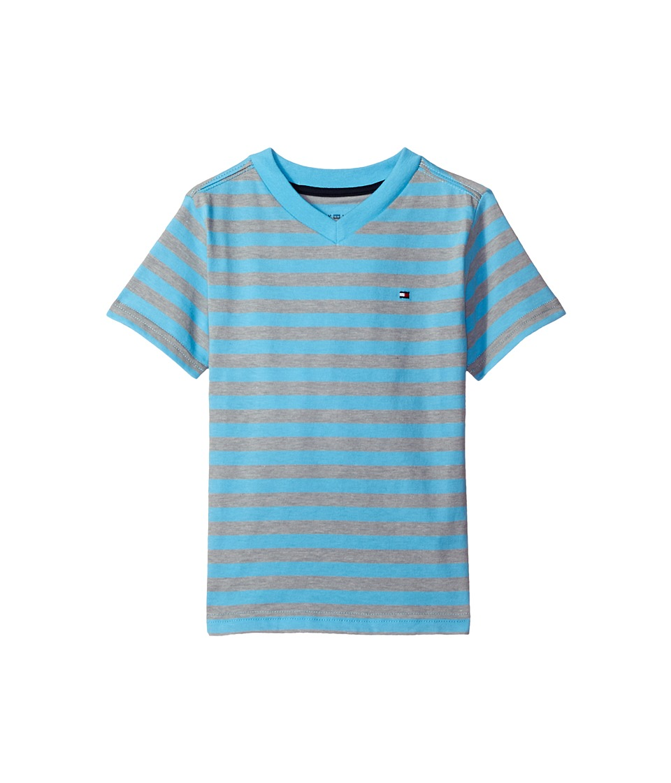 Tommy Hilfiger Kids - Felix V-Neck Tee (Big Kids) (Zen Blue) Boy's T Shirt