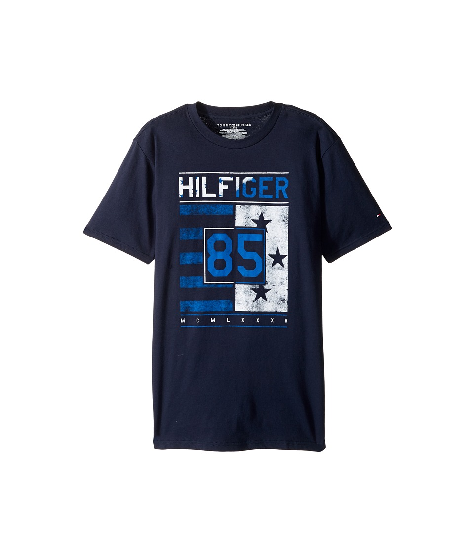 Tommy Hilfiger Kids - All-American Graphic Tee (Big Kids) (Swim Navy) Boy's T Shirt
