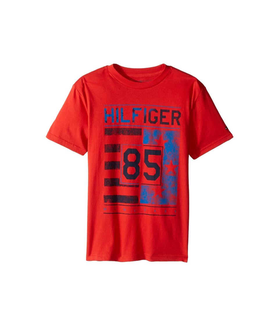 Tommy Hilfiger Kids - All-American Graphic Tee (Big Kids) (Ripe Tomato) Boy's T Shirt