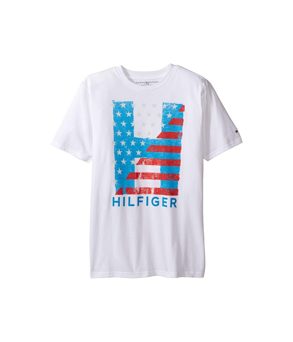 Tommy Hilfiger Kids - Homeroom Tee (Big Kids) (White) Boy's T Shirt
