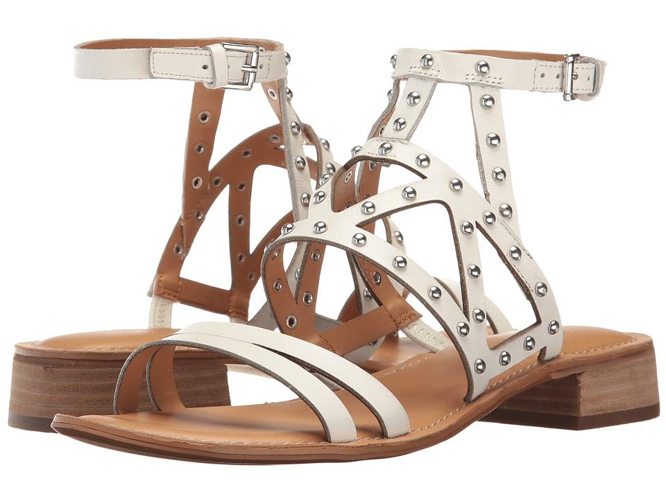 Franco Sarto - Alyssa (White Leather) Women's Sandals