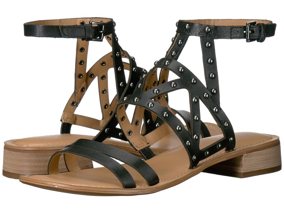 Franco Sarto - Alyssa (Black Leather) Women's Sandals