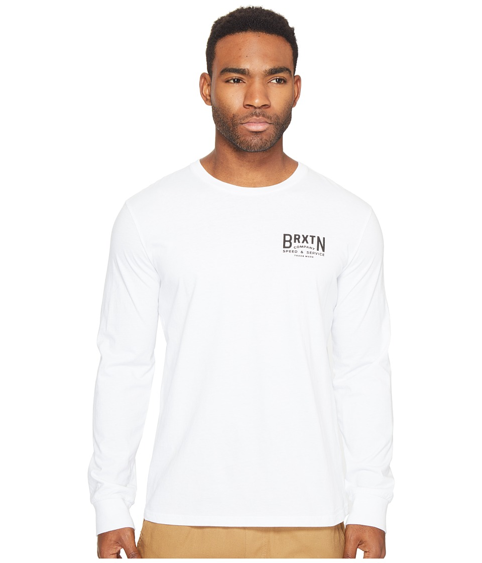 Brixton - Langley Long Sleeve Premium Tee (White) Men's T Shirt