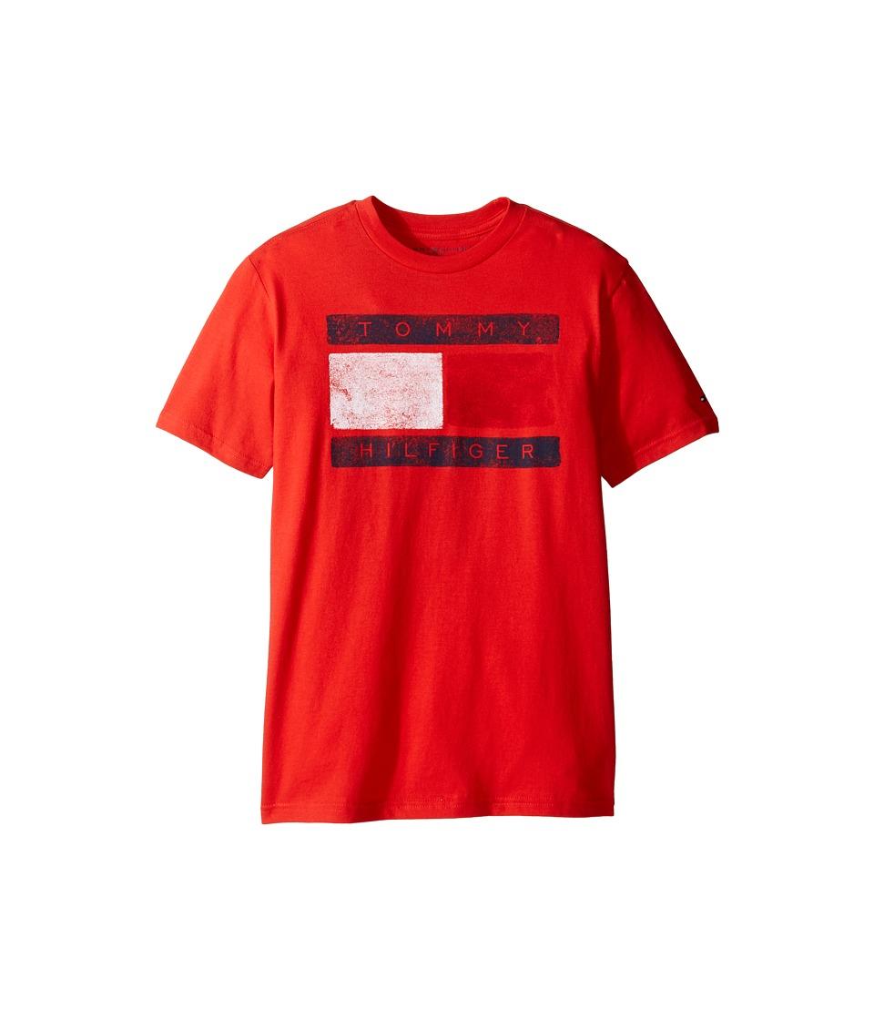 Tommy Hilfiger Kids - Tommy Flag Tee (Big Kids) (Ripe Tomato) Boy's T Shirt