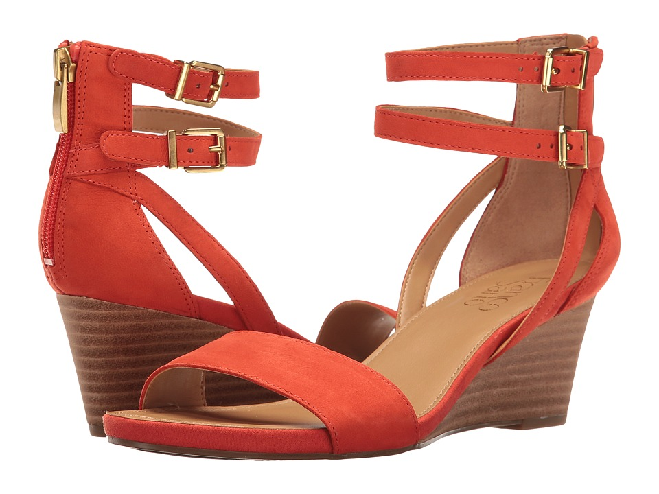 Franco Sarto - Danissa (Orange Leather) Women's Sandals