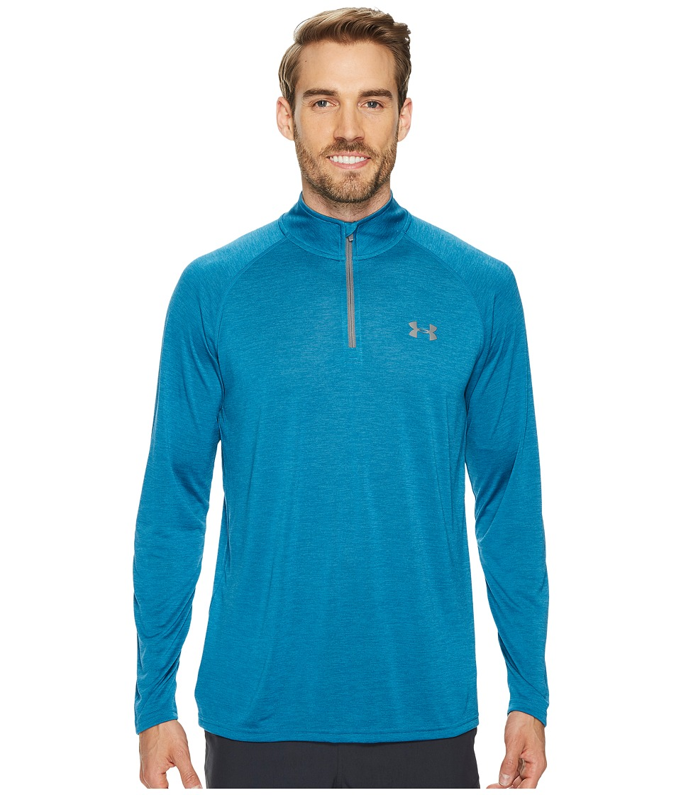 Under Armour - UA Tech 1/4 Zip (Bayou Blue/Graphite) Men's Long Sleeve Pullover