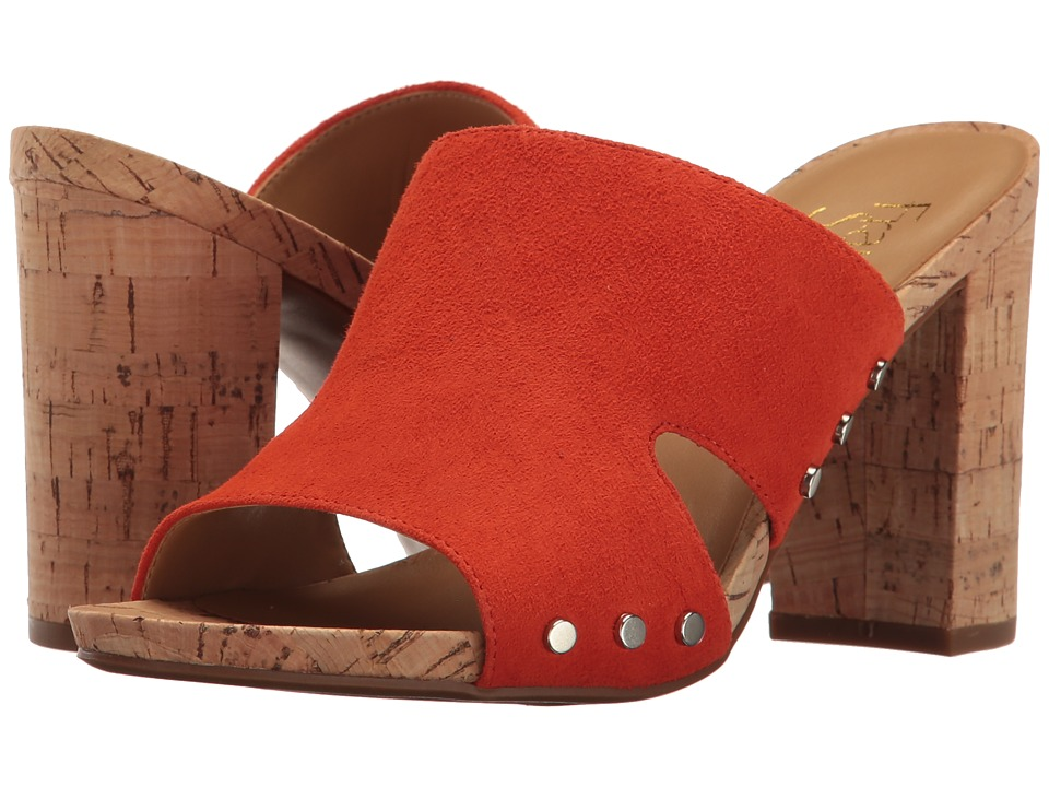 Franco Sarto - Jeanette (Orange Diva Suede) Women's Sandals