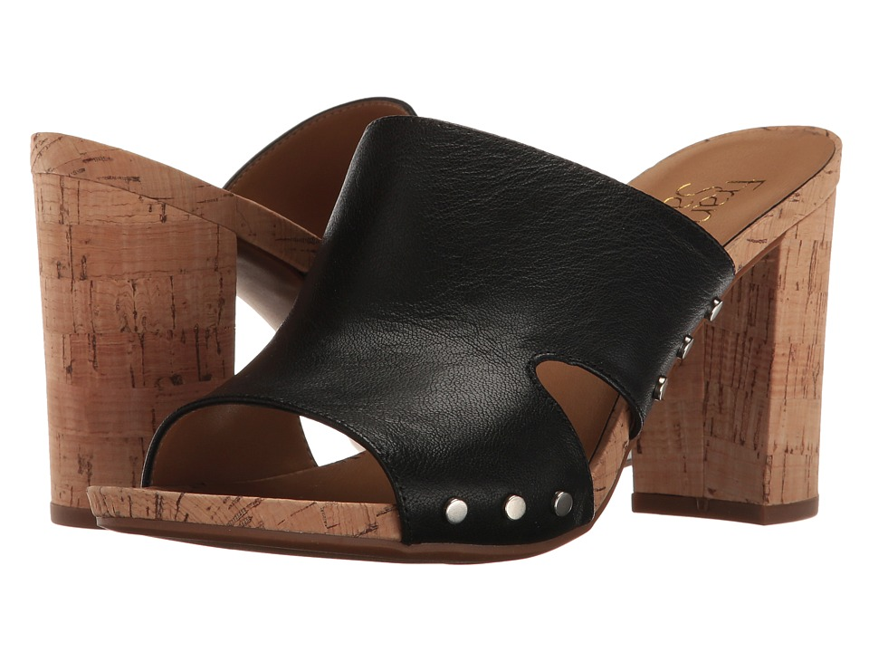 Franco Sarto - Jeanette (Black Polly Lux Leather) Women's Sandals
