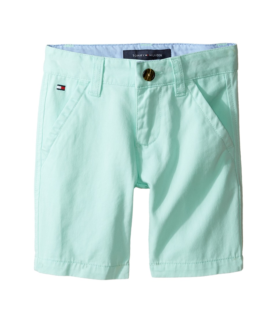 Tommy Hilfiger Kids - Chester Twill Shorts with Oxford (Toddler/Little Kids) (Yucca Mint) Boy's Shorts