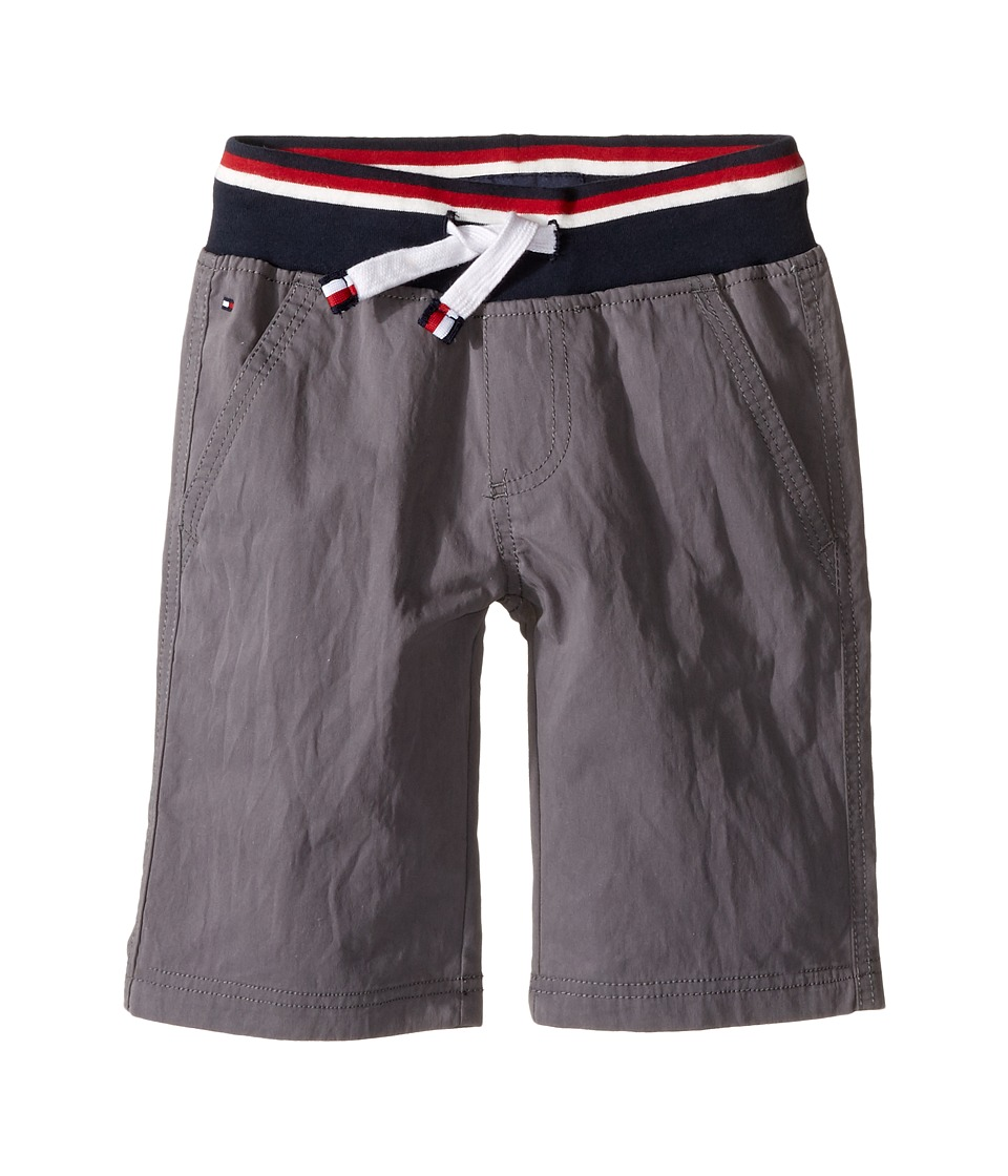 Tommy Hilfiger Kids - Signature Pull-On Shorts (Toddler/Little Kids) (As Is Grey) Boy's Shorts