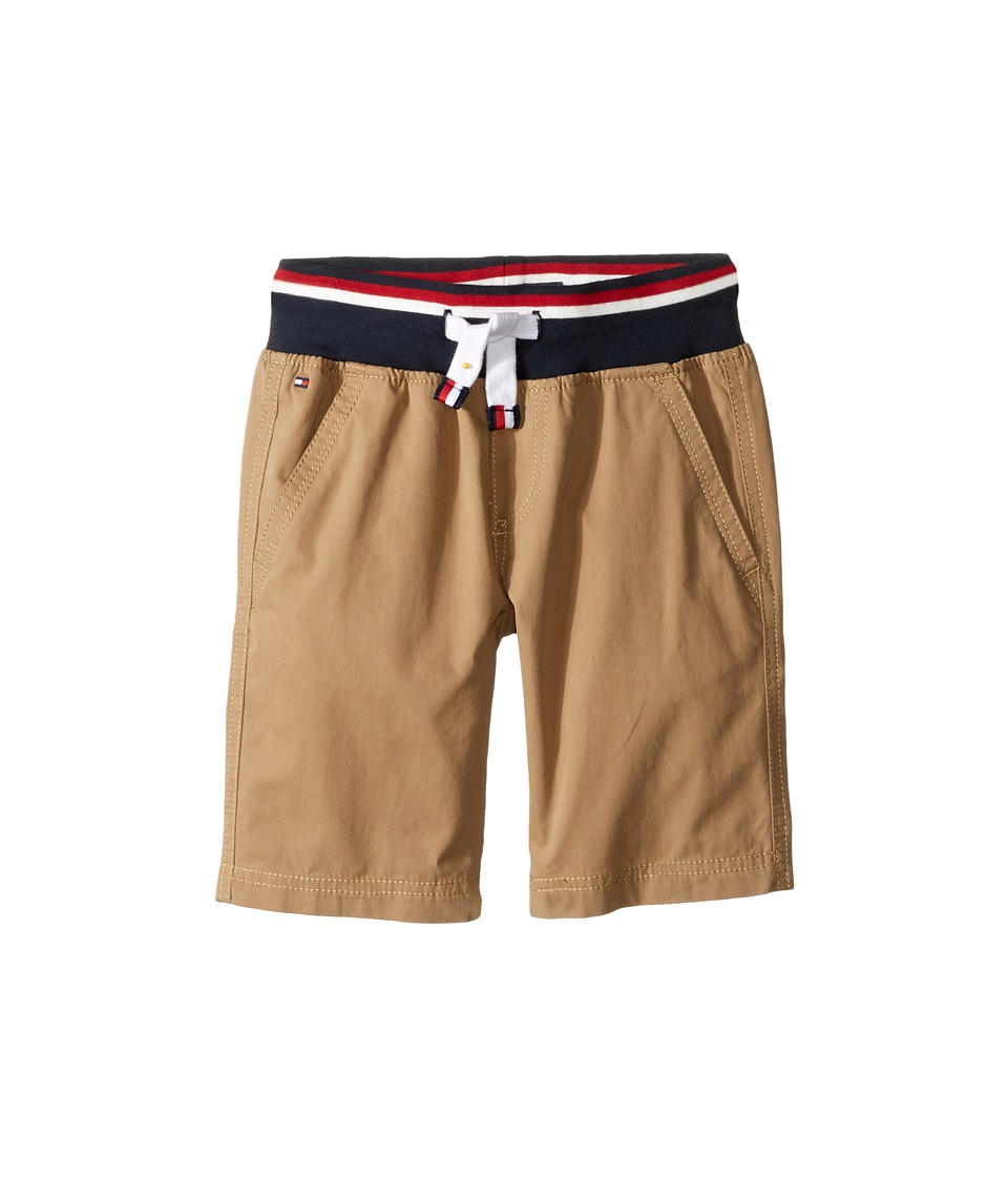 Tommy Hilfiger Kids - Signature Pull-On Shorts (Toddler/Little Kids) (Chino) Boy's Shorts