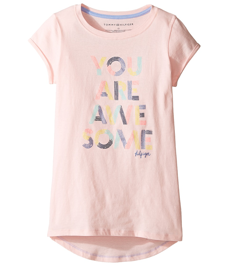 Tommy Hilfiger Kids - Awesome Graphic Tee (Little Kids/Big Kids) (Crystal Rose) Girl's T Shirt
